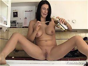 Makayla jacking With A Spoon