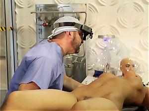 ultra-kinky lovemaking bot Asa Akira gets her makers spunk flowing