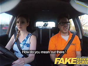 fake Driving college Nerdy red-haired nubile schoolgirl