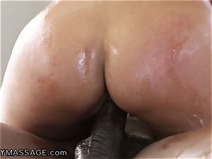 sensuous Bridgette treats mad bbc wood for Job!