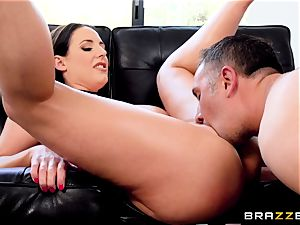 nuts deep in the butt of naughty Angela white
