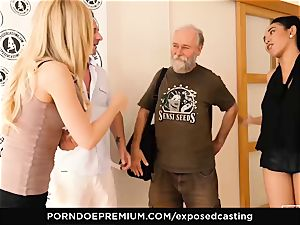 exposed audition - chinese honey loves red-hot FFM three way