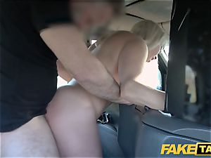 faux taxi blonde mummy Victoria Summers poked in a taxi