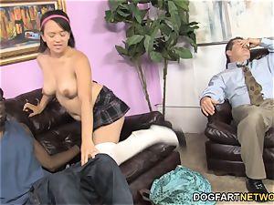 Callie Dee Has bod shaking ejaculation From gigantic dark-hued pecker