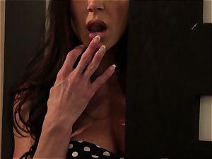 Adriana Chechik has her jummy vulva screwed by a handsome male stripper