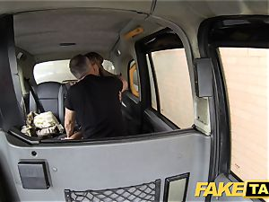 fake taxi ass licking tanned honey with little rosy slit