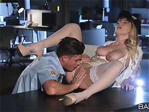 Natalia Starr humped by the night security guard